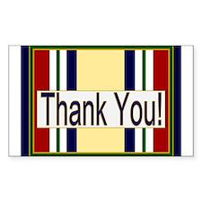 Iraq Veteran Thank You Decal