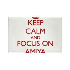 Keep Calm and focus on Amiya Magnets