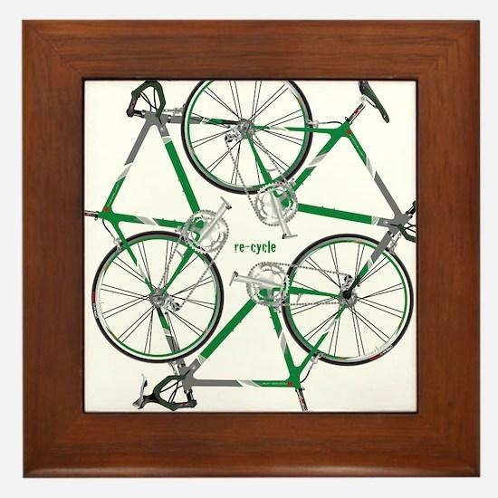 Unique Biking Framed Tile