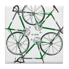 Unique Recycle symbol Tile Coaster