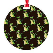 Green Cartoon Dragon Pattern Ornament