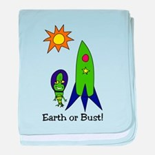 Earth or Bust ! baby blanket
