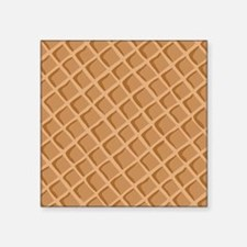 Ice Cream Waffle Cone Pattern Sticker