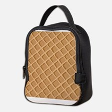 Ice Cream Waffle Cone Pattern Neoprene Lunch Bag