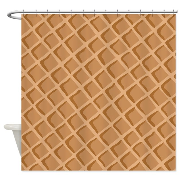 Ice Cream Waffle Cone Pattern Shower Curtain By