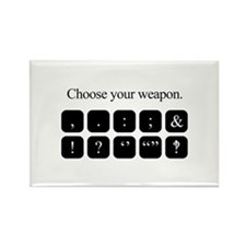 Choose Your Weapon (punctuation) Magnets
