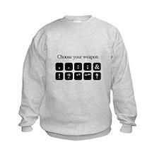 Choose Your Weapon (punctuation) Sweatshirt