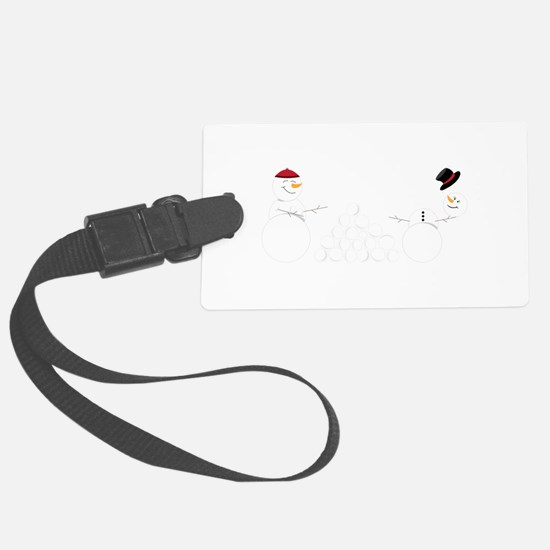 Snowball Fight Luggage Tag