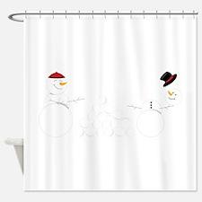 Snowball Fight Shower Curtain
