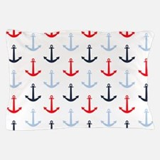 Midnight Blue, Baby Blue, Bright Red Nautical Anch