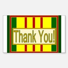 Vietnam Veteran Thank You Sticker (Rectangle)