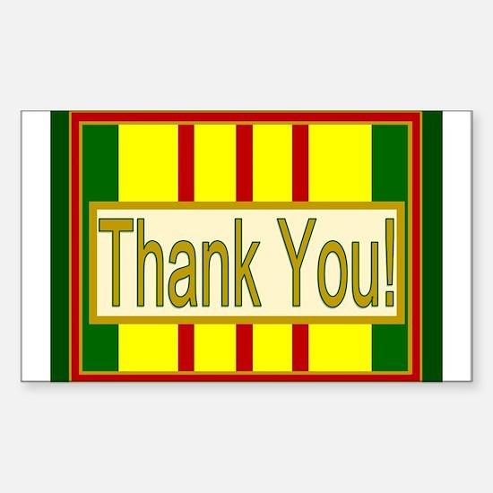 Vietnam Veteran Thank You Sticker (Rectangle)