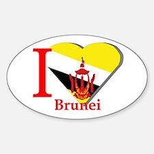 I love Brunei Oval Decal
