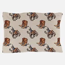 Rodeo Cowboy, Western Boots, Horse, Country Pillow