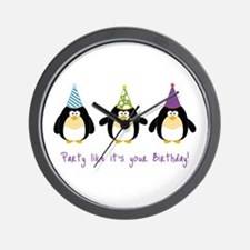 Party Like It's Your Birthday! Wall Clock
