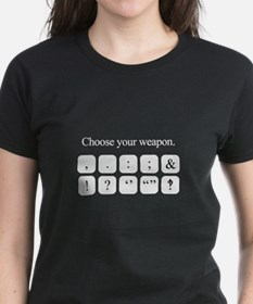 Choose Your Weapon (punctuation) white version T-S