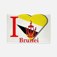 I love Brunei Rectangle Magnet