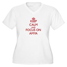 Keep Calm and focus on Amya Plus Size T-Shirt