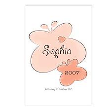 Sophia 2007 Butterfly Birth Announcements (8 pk)