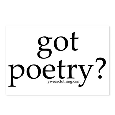 Got Poetry? Postcards (Package of 8)