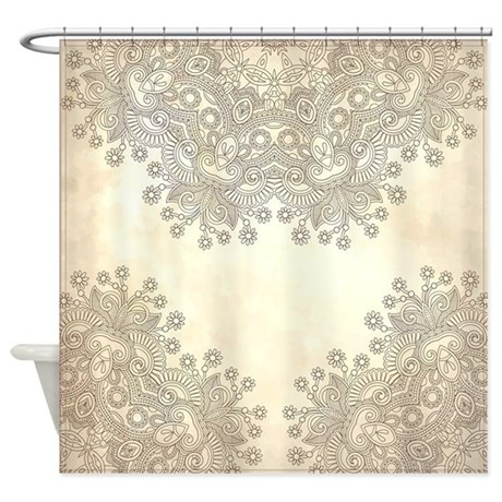 Vintage Shower Curtain By FuzzyChair