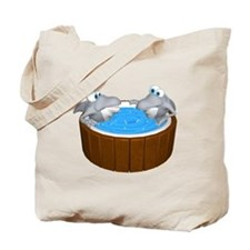 Sharks in a Hot Tub Tote Bag