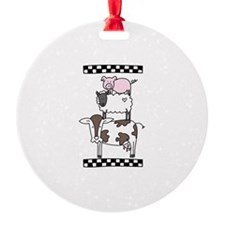 Cow Cattle Sheep Pig Chicken Ornament