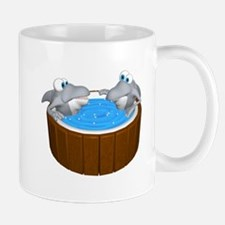 Sharks in a Hot Tub Mug