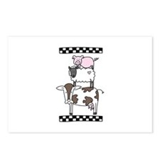 Cow Cattle Sheep Pig Chicken Postcards (Package of
