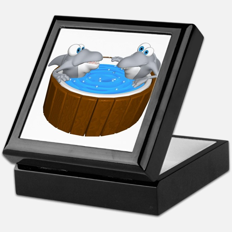 Sharks in a Hot Tub Keepsake Box