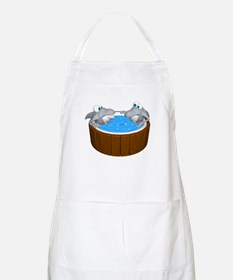 Sharks in a Hot Tub BBQ Apron