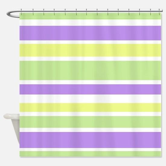 purple and yellow shower curtain. Purple Yellow Green Stripes Shower Curtain And Curtains  CafePress
