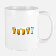 4 Beers and 1 Tapwater (Shaun of the Dead) Mugs