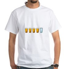 4 Beers and 1 Tapwater (Shaun of the Dead) T-Shirt