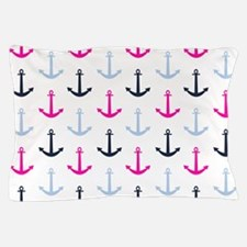 Midnight Blue, Baby Blue, Hot Pink Nautical Anchor