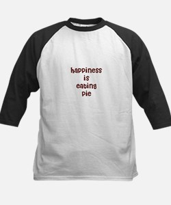 happiness is eating pie Kids Baseball Jersey