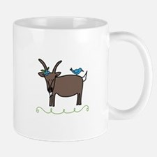 Goat Bluebird Animal Sheep Mugs