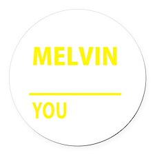 Unique Melvin Round Car Magnet