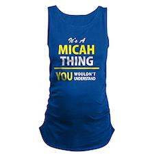 Funny Micah Maternity Tank Top