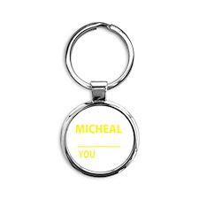 Unique Micheal Round Keychain
