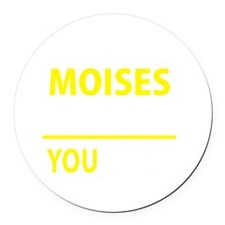 Funny Moises Round Car Magnet