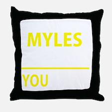 Funny Myles Throw Pillow