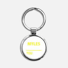 Cute Myles Round Keychain