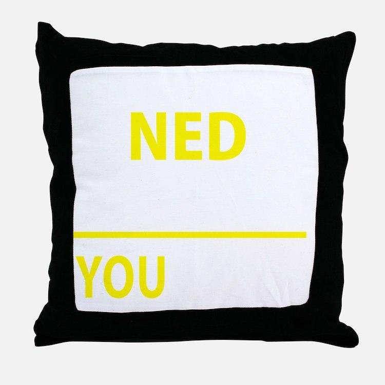 Cute Ned Throw Pillow
