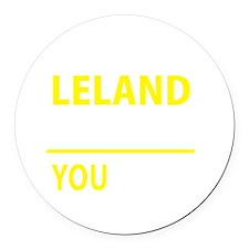Cute Leland Round Car Magnet