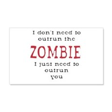 Outrun The Zombie 3 Wall Decal Sticker