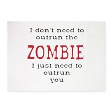 Outrun The Zombie 3 5'x7'Area Rug