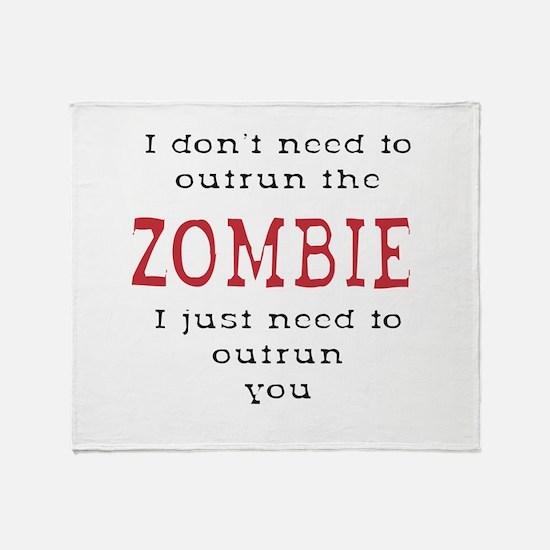 Outrun The Zombie 3 Throw Blanket