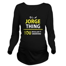 Cool Jorge Long Sleeve Maternity T-Shirt