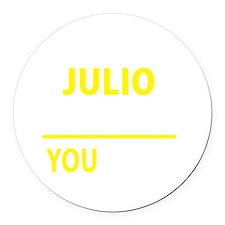 Julio Round Car Magnet